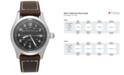 Hamilton Men's Swiss Automatic Khaki Field Brown Leather Strap Watch 38mm H70455533