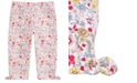 First Impressions Toddler Girls Floral-Print Keyhole Capri Pants, Created for Macy's