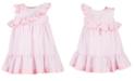 Bonnie Baby Baby Girls Striped Ruffle Dress