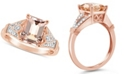 Macy's Morganite (2 ct. t.w.) and Diamond (1/10 ct. t.w.) Ring in 14K Rose Gold-Plated Sterling Silver