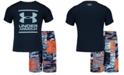 Under Armour Toddler & Little Boys 2-Pc. Striker Volley Rash Guard & Swim Trunks Set