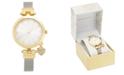 Charter Club Women's Silver-Tone Mesh Bracelet Watch 35mm