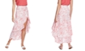 1.STATE Porcelain Floral-Print Ruffled Skirt