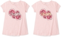 Calvin Klein Big Girls Cotton Flip-Sequin Rose T-Shirt