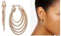 """Anne Klein Gold-Tone Medium Multi-Ring Hoop Earrings, 1-2/5"""""""