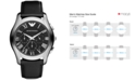 Emporio Armani Watch, Men's Chronograph Black Leather Strap 45mm AR1700