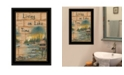 Trendy Decor 4U Trendy Decor 4U Living On The Lake by Mary June, Ready to hang Framed Print Collection