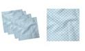"Ambesonne Snowflake Set of 4 Napkins, 12"" x 12"""