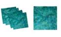 """Ambesonne Fractal Set of 4 Napkins, 12"""" x 12"""""""