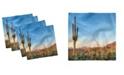 "Ambesonne Saguaro Set of 4 Napkins, 12"" x 12"""