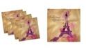 "Ambesonne Eiffel Tower Set of 4 Napkins, 12"" x 12"""