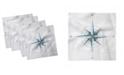 "Ambesonne Compass Set of 4 Napkins, 12"" x 12"""