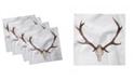 "Ambesonne Antlers Set of 4 Napkins, 12"" x 12"""