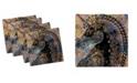 "Ambesonne Unicorn Set of 4 Napkins, 12"" x 12"""