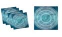 "Ambesonne Mandala Flower Set of 4 Napkins, 12"" x 12"""