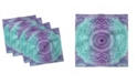 "Ambesonne Ornate Hippie Set of 4 Napkins, 12"" x 12"""