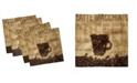 "Ambesonne Coffee Set of 4 Napkins, 12"" x 12"""