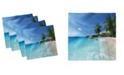 "Ambesonne Ocean Set of 4 Napkins, 18"" x 18"""