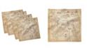 "Ambesonne Map Set of 4 Napkins, 18"" x 18"""