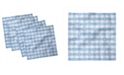 "Ambesonne Checkered Set of 4 Napkins, 18"" x 18"""