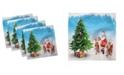 "Ambesonne Santa Set of 4 Napkins, 18"" x 18"""