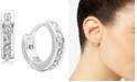 """Lauren Ralph Lauren Extra-Small Pavé Huggie Hoop Earrings, 0.44"""""""