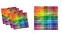 """Ambesonne Vintage-Like Rainbow Set of 4 Napkins, 18"""" x 18"""""""