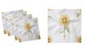 "Ambesonne Sunflower Set of 4 Napkins, 18"" x 18"""