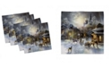 """Ambesonne Country Set of 4 Napkins, 18"""" x 18"""""""