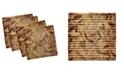"Ambesonne Leaves Set of 4 Napkins, 18"" x 18"""