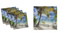"Ambesonne Palm Tree Set of 4 Napkins, 18"" x 18"""