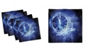 "Ambesonne Clock Set of 4 Napkins, 18"" x 18"""