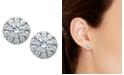 Macy's Diamond Halo Stud Earrings in 14k White Gold (1/2 ct. t.w.)