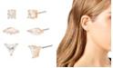 "Jessica Simpson Geometric CZ Stone Stud Earrings Set, 0.2""-0.3"""