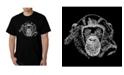 LA Pop Art Men's Word Art - Chimpanzee T-Shirt