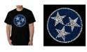 LA Pop Art Men's Word Art - Tennessee Tristar T-Shirt