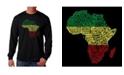 LA Pop Art Men's Word Art - Countries in Africa Long Sleeve T-Shirt