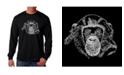 LA Pop Art Men's Word Art - Chimpanzee Long Sleeve T-Shirt
