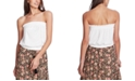 1.STATE Strapless Lace-Inset Top