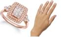 Le Vian Vanilla Diamonds® (5/8 ct. t.w.) & Nude Diamonds (3/8 ct. t.w.) Halo Statement Ring in 14k Rose Gold