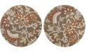 "Global Rug Designs Haven Hav13 Taupe 3'3"" x 3'3"" Round Rug"
