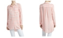 Jones New York Women's Stripe Play Button Down Shirt