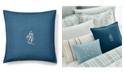 """Lauren Ralph Lauren Julianne Monogram Throw Pillow, 18"""" X 18"""""""