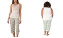 Munki Munki Plus Size Waffles Tank & Capri Pajama Set, Online Only