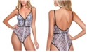 Hauty Women's Snake Print Micro Bodysuit, Online Only