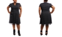 MSK Plus Size V-Neck A line Dress