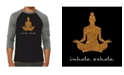 LA Pop Art Inhale Exhale Men's Raglan Word Art T-shirt
