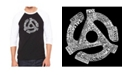 LA Pop Art Record Adapter Men's Raglan Word Art T-shirt