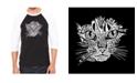 LA Pop Art Cat Face Men's Raglan Word Art T-shirt