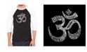 LA Pop Art Poses Om Men's Raglan Word Art T-shirt